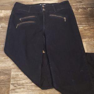 Neverming zippered dark blue Jean's 12 straight